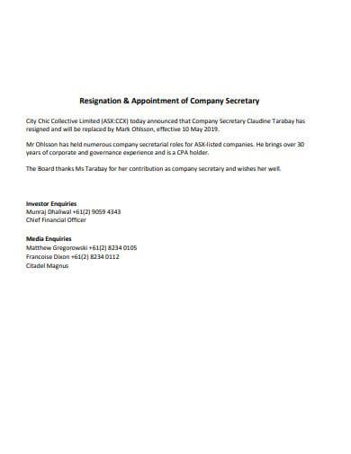 company-secretary-resignation-format