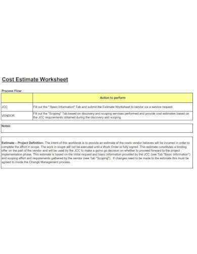 concise vendor job estimate template pages 2 14