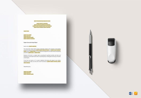 construction project report template1