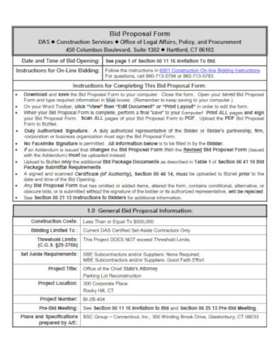 10+ Construction Bid Proposal Templates - PDF, Google Docs