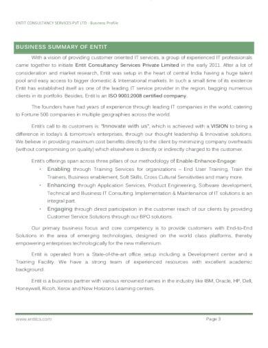 consulting company profile format in pdf