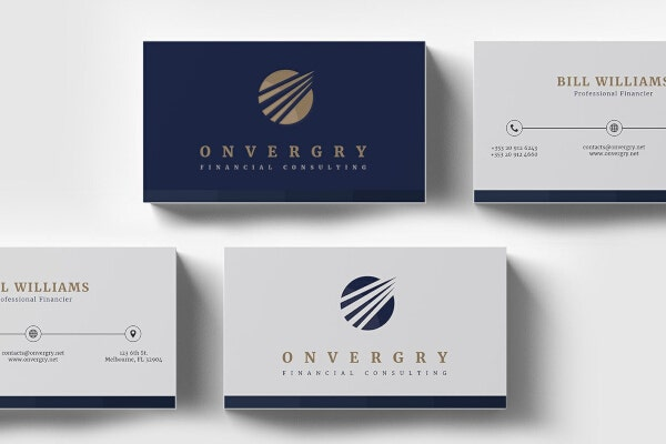 consulting financial business card template