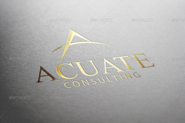 consulting financial logo template