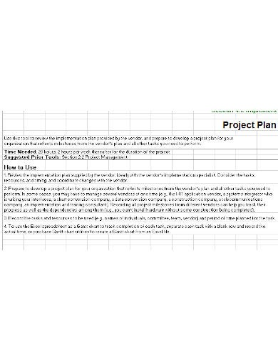 consulting project plan template in xls