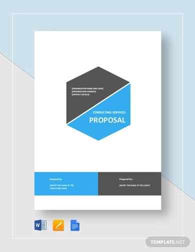consulting service proposal template