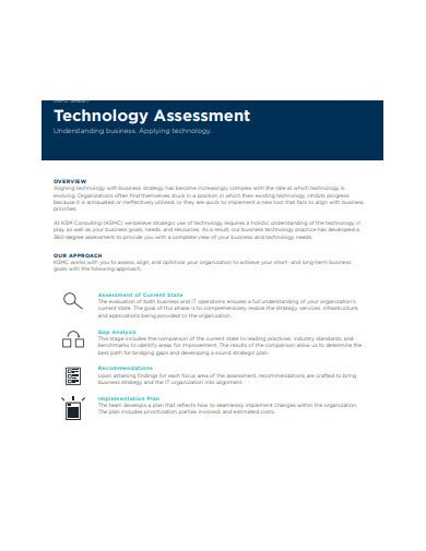 consulting technology assessment template