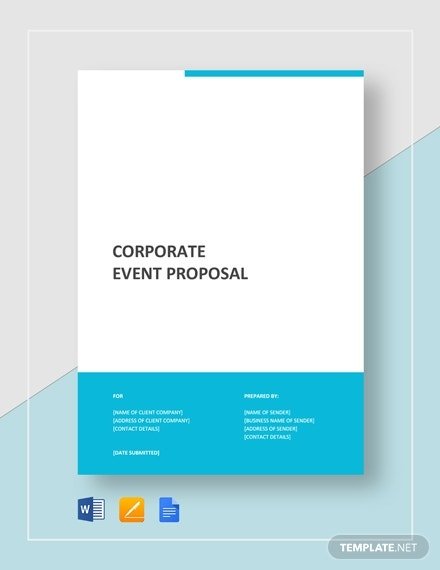 corporate business event proposal layout