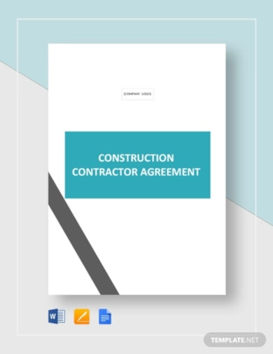 corporate construction contractor agreement template