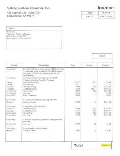 corporate consulting invoice template