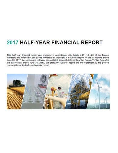 corporate financial report template