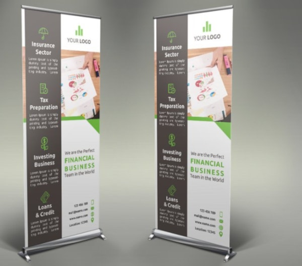 corporate financial roll up banner template