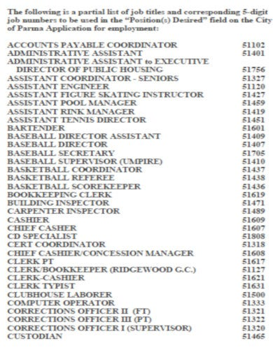 corporate job list