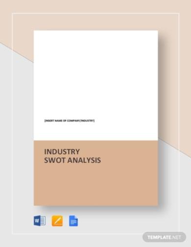 corporate swot analysis template