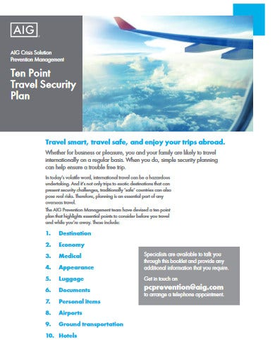 corporate travel security policy template