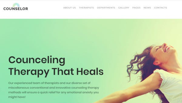 counselor drag and drop page builder wordpress theme