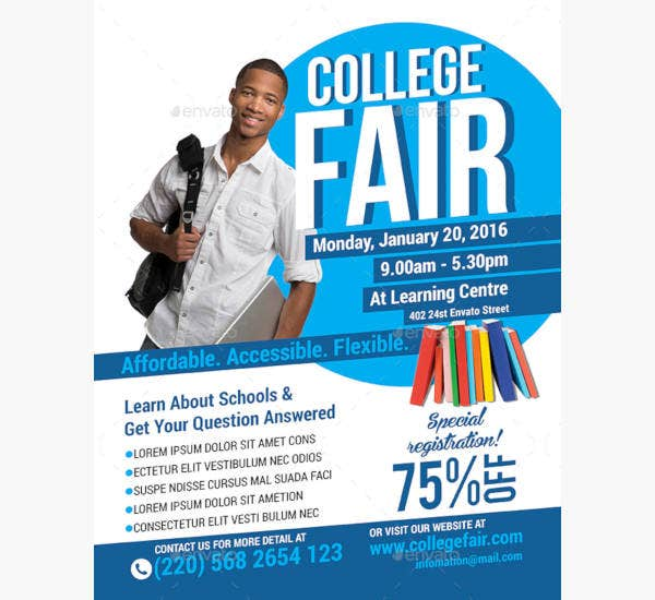 creative college fair flyer