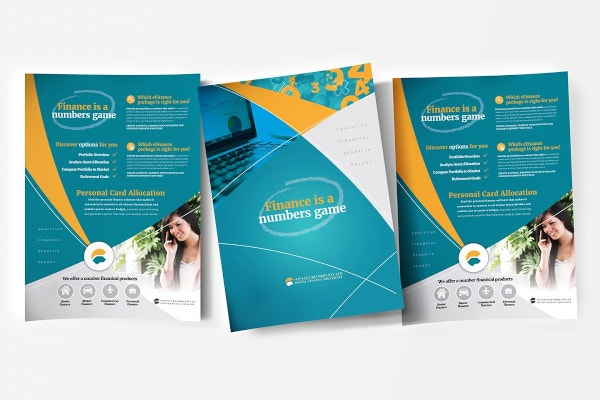 creative financial poster template