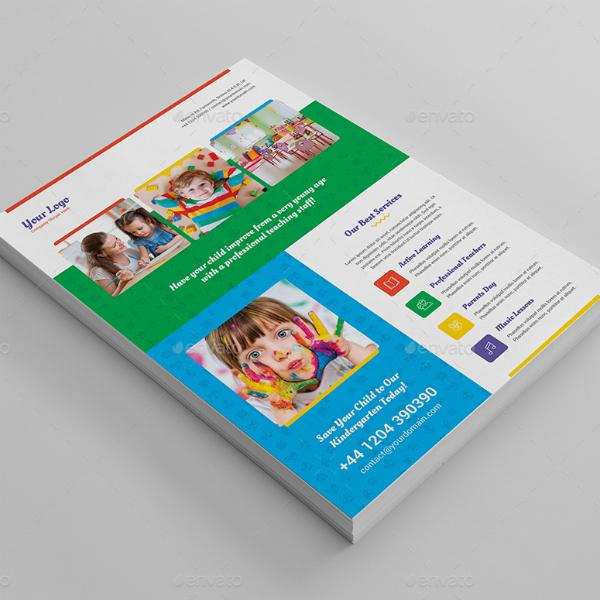 Creative Printable Kindergarten Flyer Example
