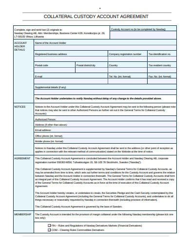 custody account agreement