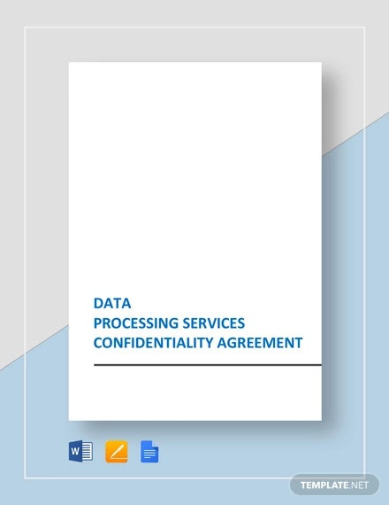 data processing services confidentiality agreement template1