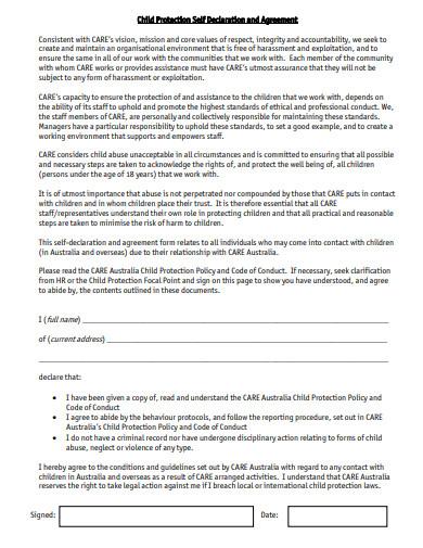 declaration agreement template