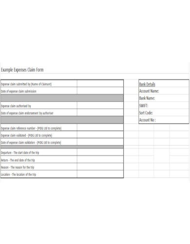 detailed travel allowance claim form template