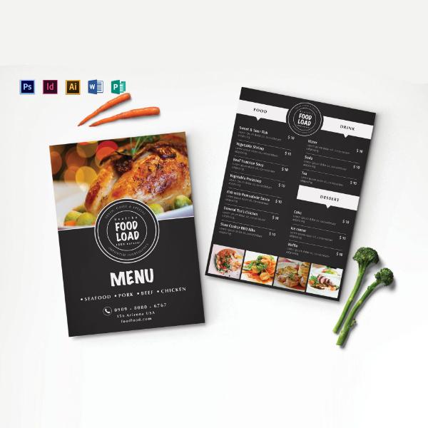dinner party food menu sample