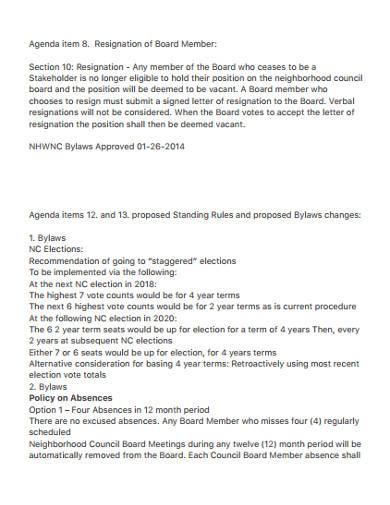 directors membership resignation letter