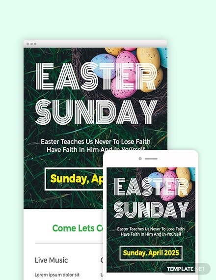 download free easter sunday email newsletter template