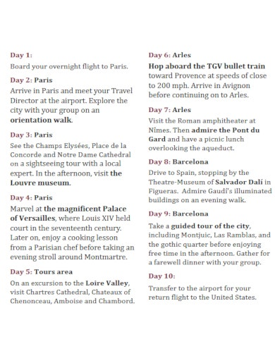 download travel itinerary checklist template