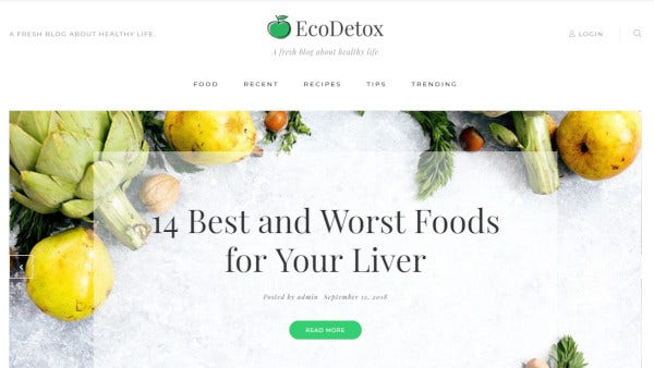 ecodetox retina ready wordpress theme