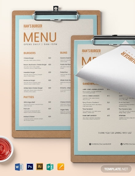 editable burger menu template 1