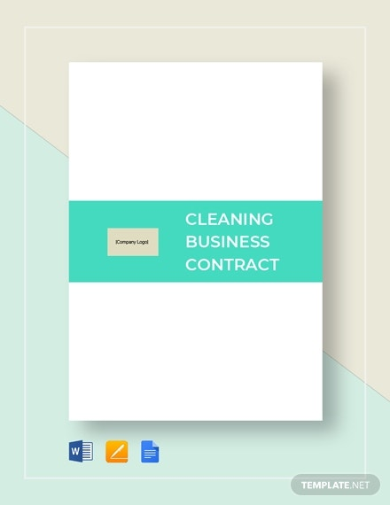 editable cleaning business contract sample