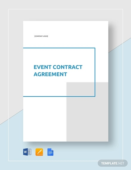 editable event contract agreement layout