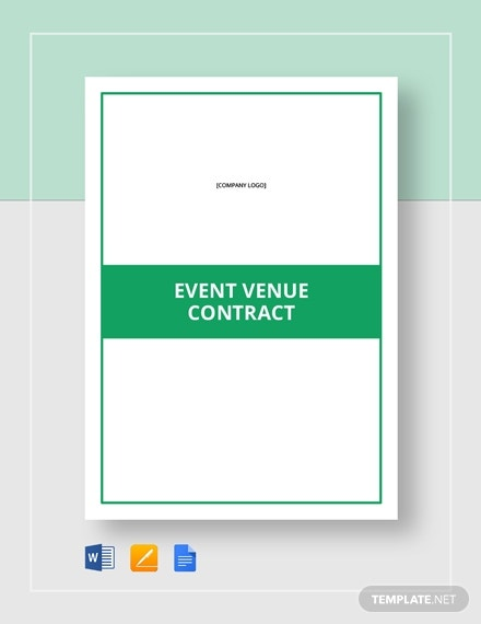 editable event venue contract layout
