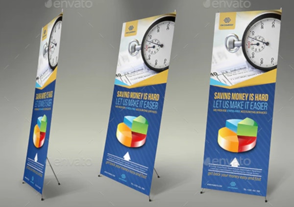 editable financial roll up banner template