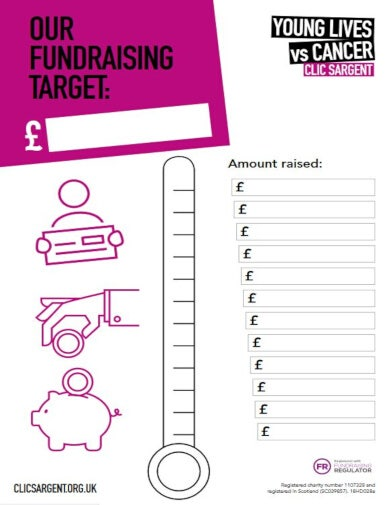 editable fundraiser chart template