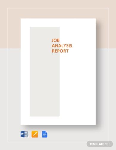editable job analysis template