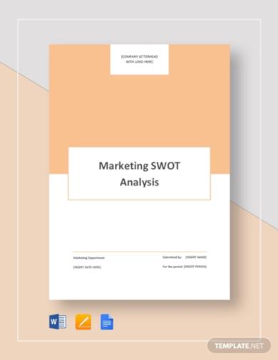 editable marketing swot analysis template