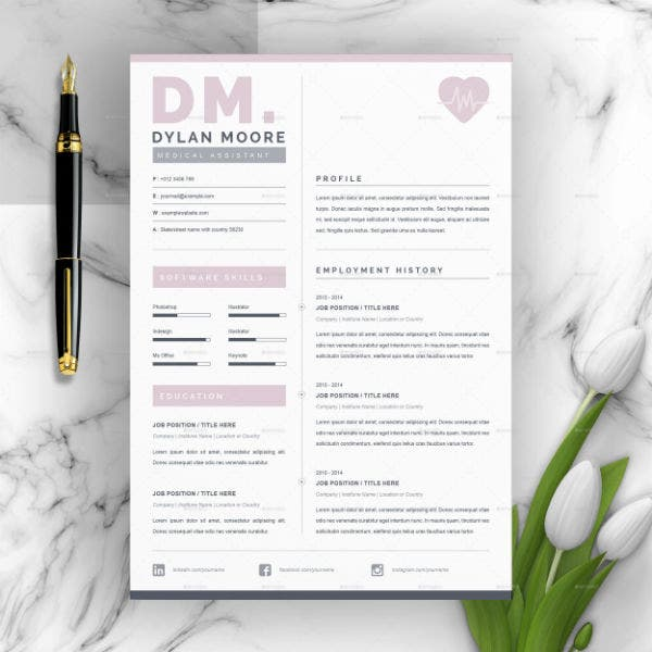 editable medical or travel nurse resume template