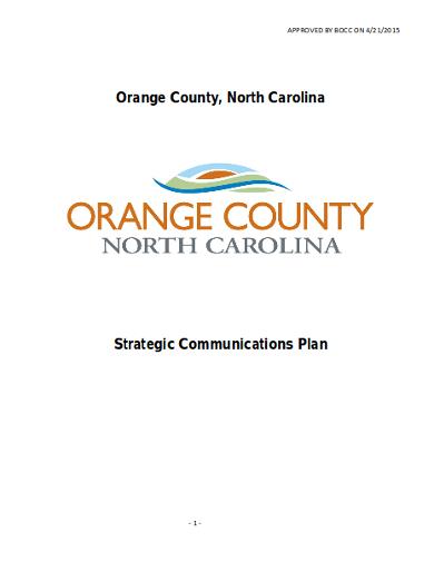 editable strategic communications plan