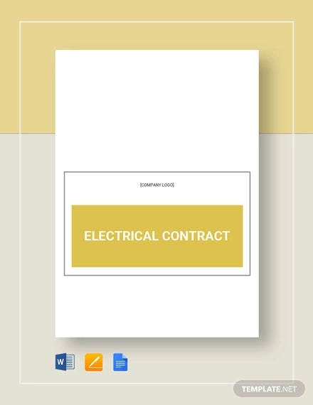 electrical contract template