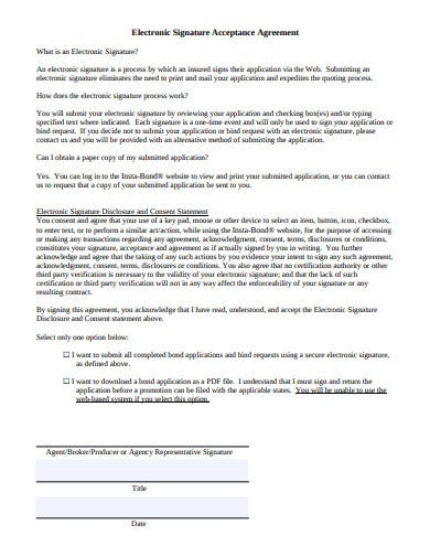 electronic signature acceptance agreement