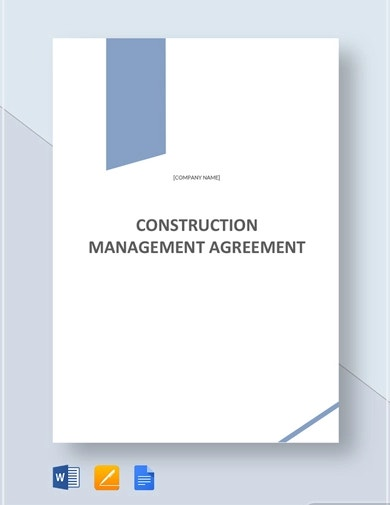 elegant construction contract template