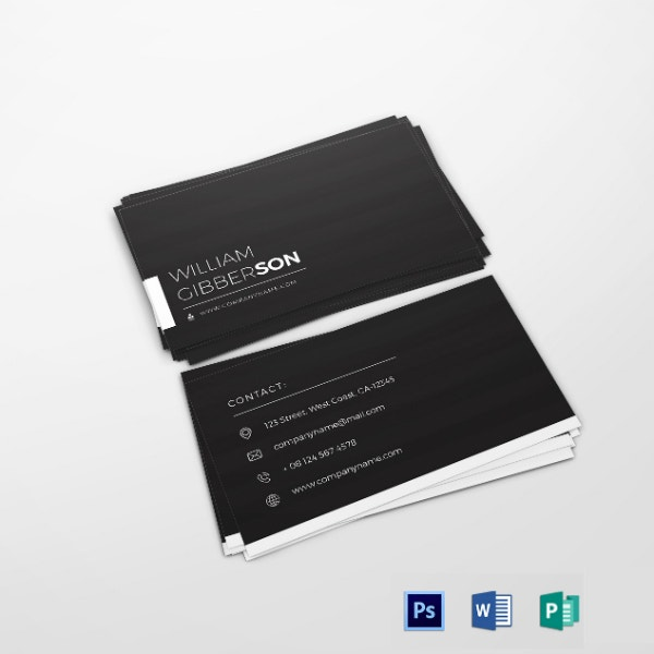 elegant financial business card example