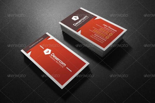 elegant financial business card template