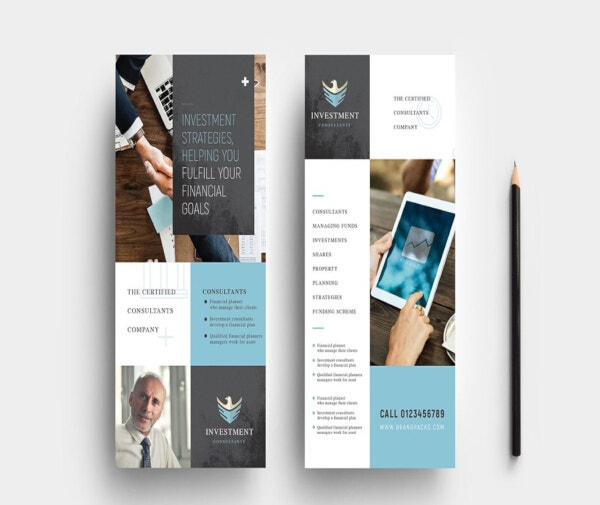 elegant financial dl card template
