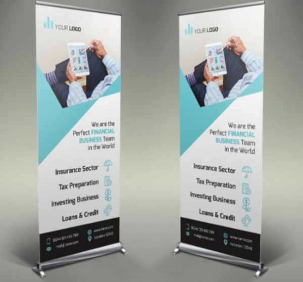 elegant financial roll up banner template