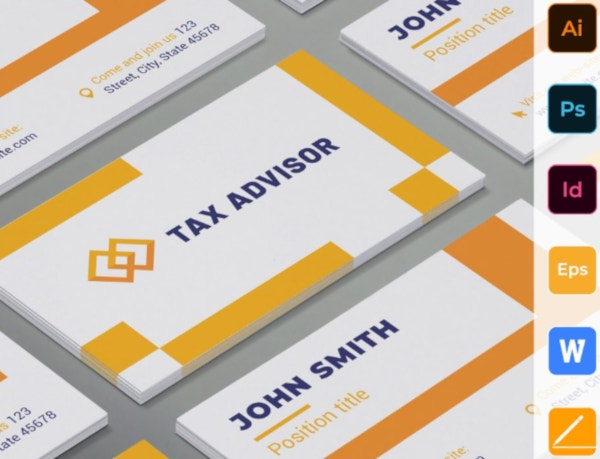 elegant financial services business card template