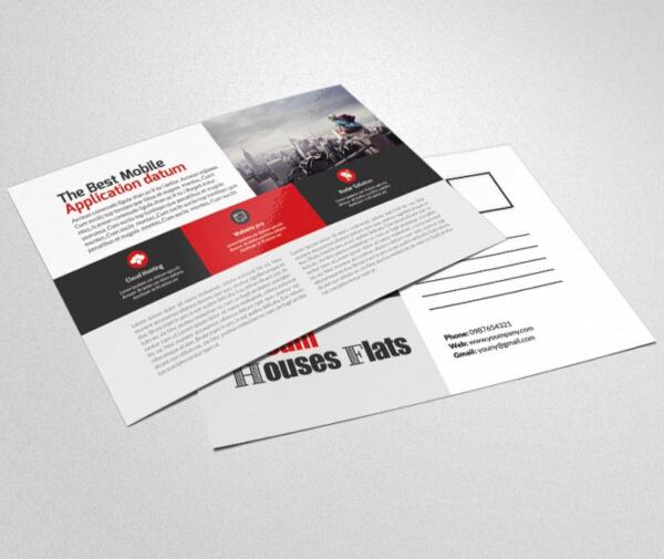 elegant financial services postcard template